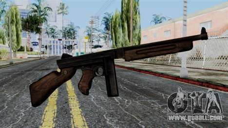 Thompson from Battlefield 1942 for GTA San Andreas third screenshot