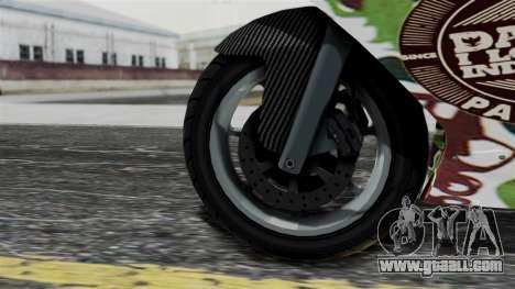 Bati Wayang Camo Motorcycle for GTA San Andreas right view