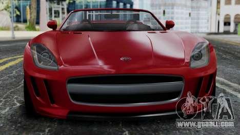 GTA 5 Benefactor Surano v2 IVF for GTA San Andreas back view