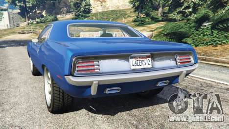GTA 5 Plymouth Barracuda 1970 rear left side view