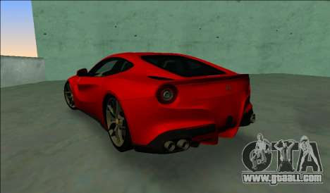 Ferrari F12 Berlinetta for GTA Vice City back left view