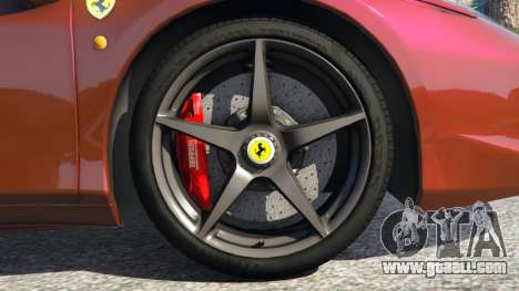 GTA 5 Ferrari 458 Italia 2009 v1.3 rear right side view