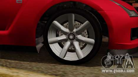 GTA 5 Elegy RH8 for GTA San Andreas right view