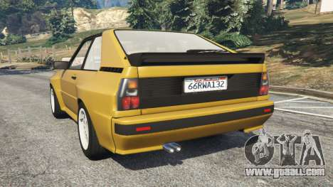 GTA 5 Audi Sport quattro rear left side view