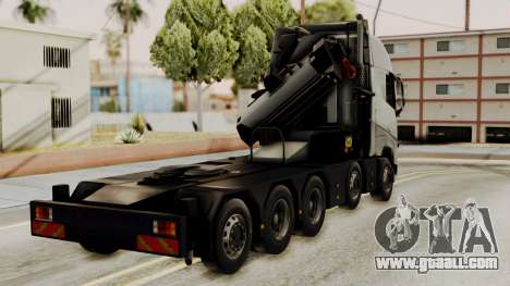 Volvo FH Euro 6 10x4 High Cab for GTA San Andreas left view