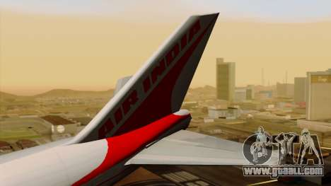 Boeing 747-237B Air India Flight 182 for GTA San Andreas back left view