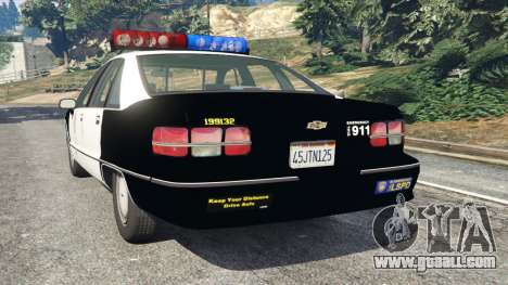 GTA 5 Chevrolet Caprice 1991 LSPD rear left side view