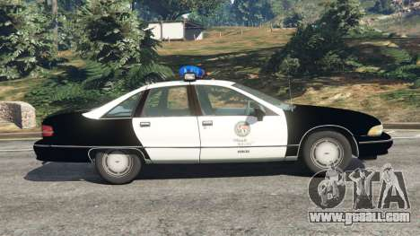 GTA 5 Chevrolet Caprice 1991 LSPD left side view