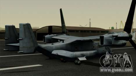 MV-22 Osprey for GTA San Andreas left view