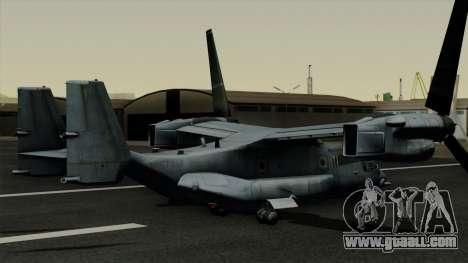 MV-22 Osprey for GTA San Andreas left view