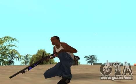 Shotgun with a tiger cub for GTA San Andreas third screenshot