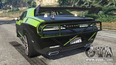 GTA 5 Dodge Challenger 2015 Shaker Furious 7 rear left side view