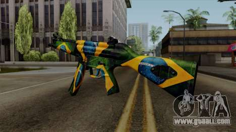 Brasileiro MP5 v2 for GTA San Andreas second screenshot