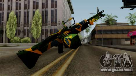 Brasileiro Minigun v2 for GTA San Andreas third screenshot