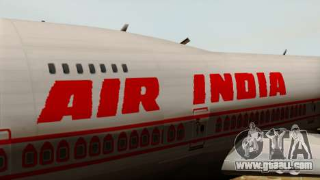 Boeing 747-237B Air India Flight 182 for GTA San Andreas back view