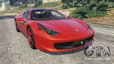 Ferrari 458 Italia 2009 v1.3 for GTA 5