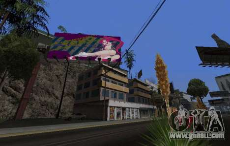 Candy Suxx billboard replacement for GTA San Andreas forth screenshot
