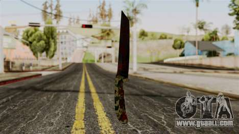 New bloody knife camo for GTA San Andreas second screenshot