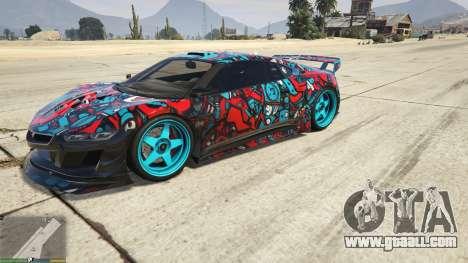 GTA 5 Dinka Jester (Racecar) Sticker Bombing для GTA 5 left side view