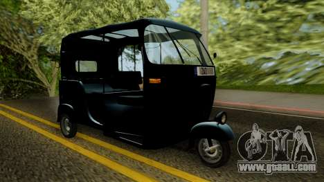 Indian Auto Rickshaw Tuk-Tuk for GTA San Andreas