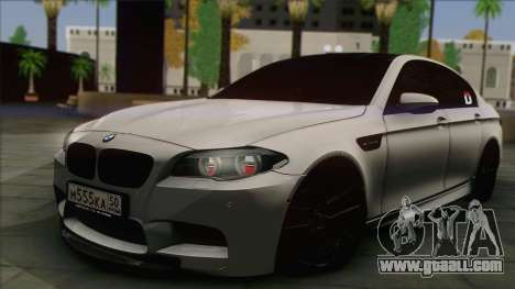 BMW M5 F10 Grey Demon for GTA San Andreas