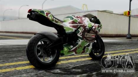 Bati Wayang Camo Motorcycle for GTA San Andreas left view