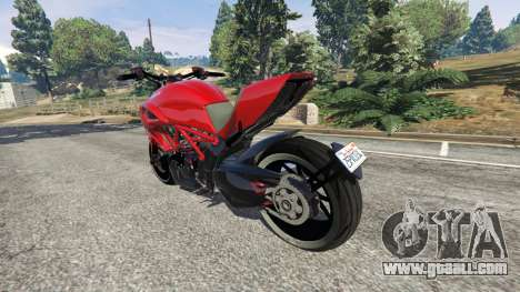 GTA 5 Ducati Diavel Carbon 2011 rear left side view