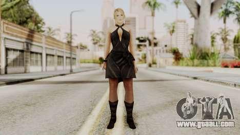 DOA 5 Sarah BlackDress for GTA San Andreas second screenshot