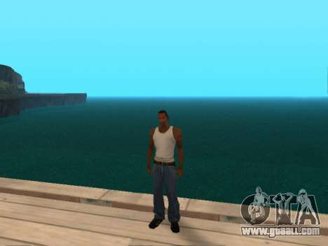 Dark green realistic water for GTA San Andreas third screenshot