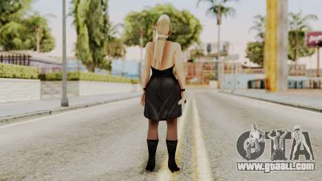 DOA 5 Sarah BlackDress for GTA San Andreas third screenshot