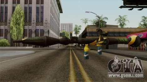 Brasileiro Rocket Launcher v2 for GTA San Andreas second screenshot