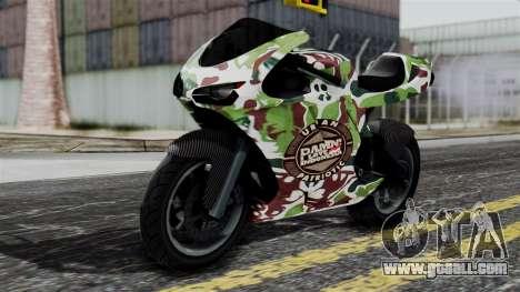 Bati Wayang Camo Motorcycle for GTA San Andreas