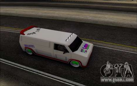 Burrito So Low for GTA San Andreas back left view