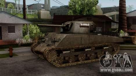 M4 Sherman from CoD World at War for GTA San Andreas