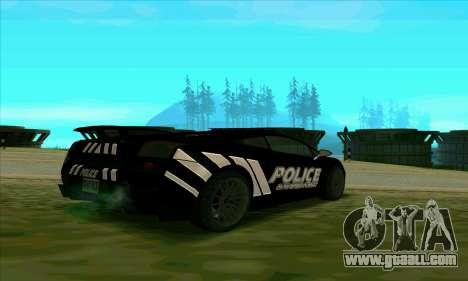 Federal Police Lamborghini Gallardo for GTA San Andreas back left view