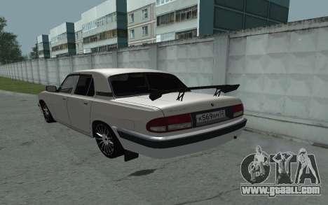 GAZ 31105 Volga for GTA San Andreas back left view