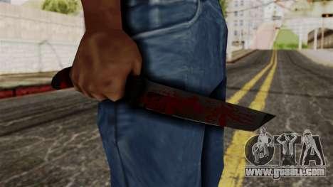 New bloody knife for GTA San Andreas third screenshot
