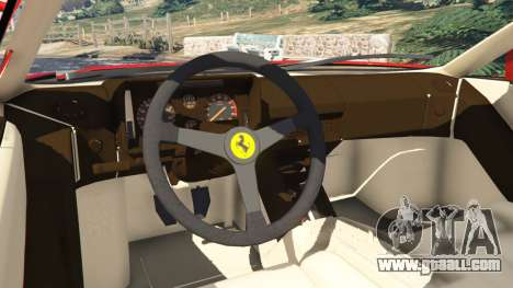 GTA 5 Ferrari Testarossa 1984 rear right side view