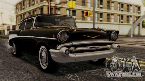 Chevrolet Bel Air Sport Coupe (2454) 1957 HQLM for GTA San Andreas
