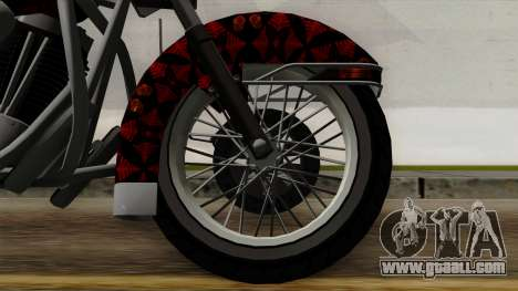 Classic Batik Motorcycle for GTA San Andreas back left view