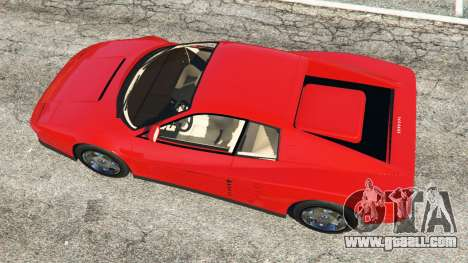 GTA 5 Ferrari Testarossa 1984 back view