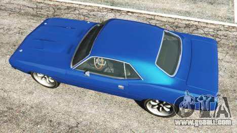 GTA 5 Plymouth Barracuda 1970 back view