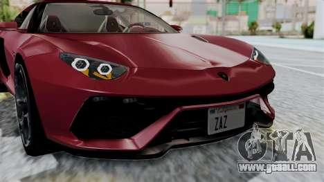 Lamborghini Asterion Concept 2015 v2 for GTA San Andreas inner view