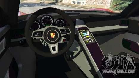 Porsche 918 Spyder 2013 for GTA 5