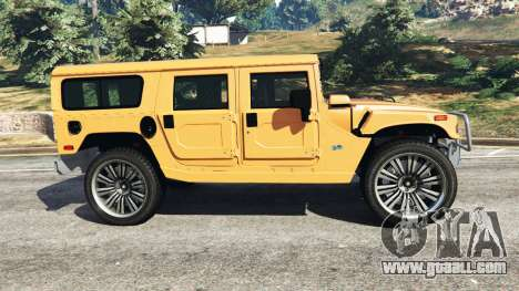 GTA 5 Hummer H1 left side view