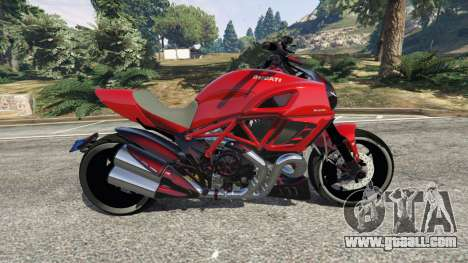 GTA 5 Ducati Diavel Carbon 2011 left side view