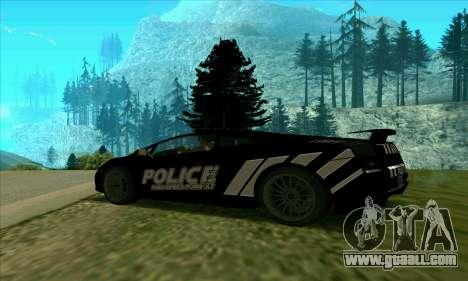 Federal Police Lamborghini Gallardo for GTA San Andreas left view