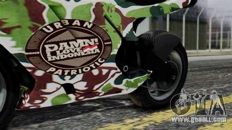 Bati Wayang Camo Motorcycle for GTA San Andreas inner view