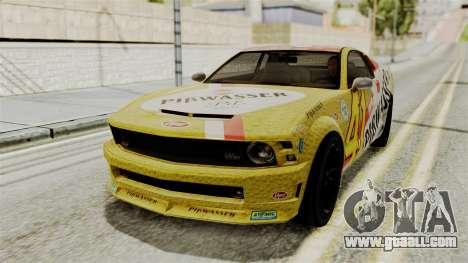 GTA 5 Vapid Dominator SA Style for GTA San Andreas back view