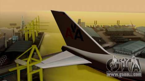 Boeing 747-100 American Airlines for GTA San Andreas back left view